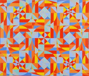オノサト・トシノブ「星雲」油彩