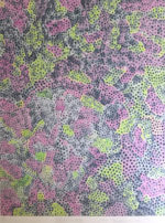 草間彌生「花さける信濃路」シルクスクリーン59.7×47.7cm