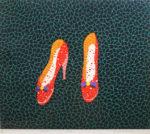 草間彌生「靴」版画シルクスクリーン45.5×53cm