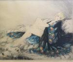 ルイ・イカール「シルクローブ」銅版画37.5×47cm