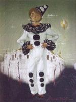 松樹路人「小さなピエロ」油彩8号