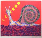 草間彌生「かたつむり」シルクスクリーン45.4×52.8cm