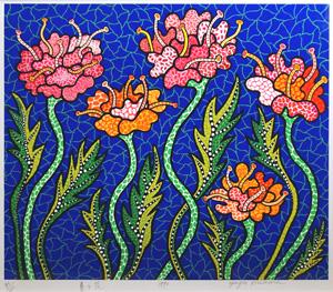 草間彌生「夏の花」版画