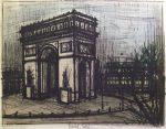ベルナール・ビュッフェ「エトワール凱旋門」版画52.5×67.4cm