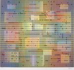 ヤコブ・アガム「Untitled2」版画57.1×62.3cm