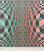ヴィクトル・ヴァザルリ「Untitled 2」版画24×22.2cm