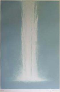 千住博「weterfall#20」銅版画