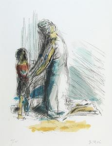 森芳雄「母子像」版画