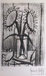 ベルナール・ビュッフェ「ブーケ」銅版画36.5×25cm