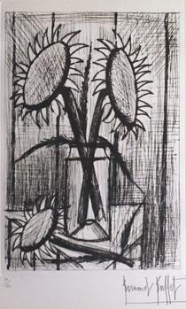 ベルナール・ビュッフェ「ブーケ」銅版画