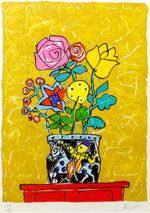 ポール・アイズピリ「チェストの上の花」版画33×24cm