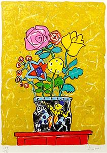 アイズピリ「チェストの上の花」版画