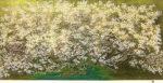 中島千波「千島櫻」シルクスクリーン50×100cm