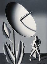 マーク・コスタビ「CONTACT」油彩62×46cm