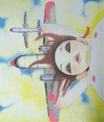タカノ綾「Fallin' Manma Air」版画59×50cm