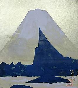 前田青邨「富士」日本画