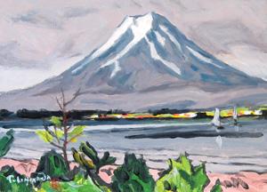 石川寅治「富士」油彩
