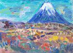 小林和作「富士山の秋」油彩4号