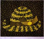 草間彌生「帽子」版画リトグラフ31.2×40.7cm