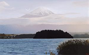 百瀬智宏「寒日」油彩