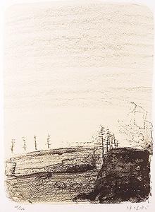 香月泰男「北見(北海道)」版画