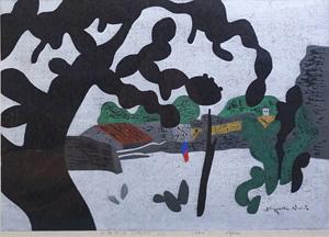 斎藤清「メキシコ(2)」木版画