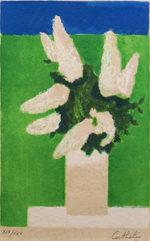 ベルナール・カトラン「春」リトグラフ28.8×18.8cm