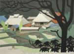 斎藤清「さつきの会津(2)」木版画38×53cm