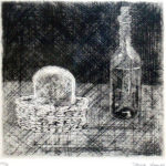 駒井哲郎「静物」銅版画14.5×14.8cm