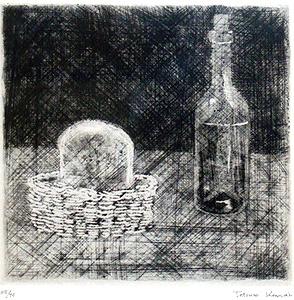 駒井哲郎「静物」銅版画