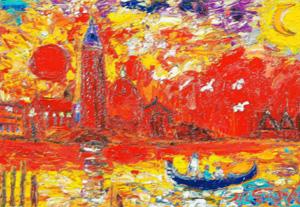 鈴木マサハル「ベネチア」油彩