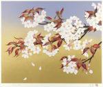 森田りえ子「山桜」版画リトグラフ43×53cm