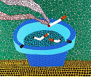 草間彌生「灰皿」版画