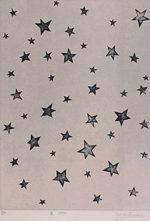 草間彌生「星」銅版画41.8×29.5cm