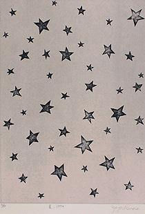 草間彌生「星」銅版画
