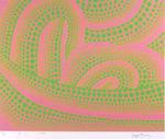 草間彌生「波(2)」版画シルクスクリーン47.8×59.7cm