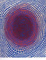 草間彌生「朝の太陽」シルクスクリーン65.6×53.8cm