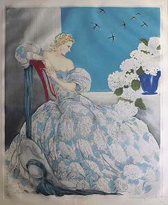 ルイ・イカール「ブルーシンフォニー」銅版画