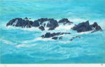 東山魁夷「朝濤」版画リトグラフ37×61cm