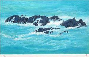 東山魁夷「朝濤」版画