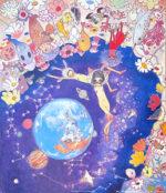 タカノ綾「月から見た地球-Earth-」版画60×52cm