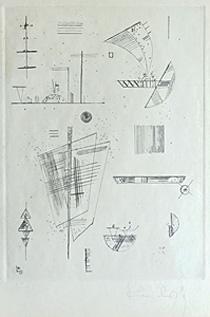 カンディンスキー「Erste Kaltnadel・・・」銅版画