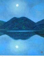 東山魁夷「月唱(新復刻画)」版画リトグラフ54×43cm