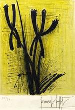 ベルナール・ビュッフェ「アイリス」版画36.3×29cm