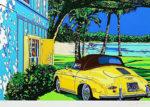 鈴木英人「アイランド・クルーズ」版画39.5×60cm