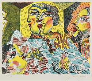 絹谷幸二「イタリア賛歌」版画