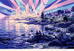 笹倉鉄平「マジック・アワー」版画