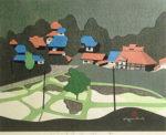 斎藤清「さつきの会津(4)」木版画38×53cm