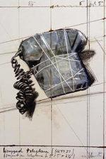 クリスト「Wrapped Telephone」版画56.2×38cm