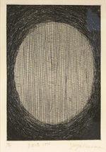草間彌生「自画像」銅版画22×14.6cm